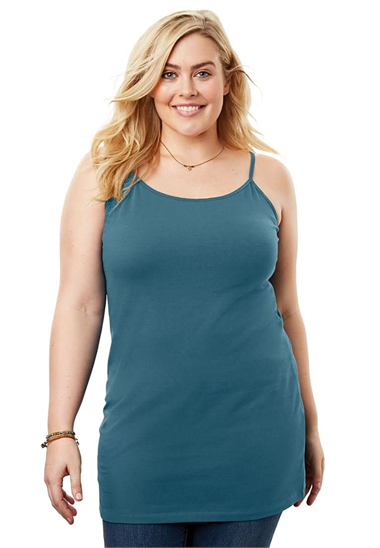 Woman Within Plus Size Long Camisole