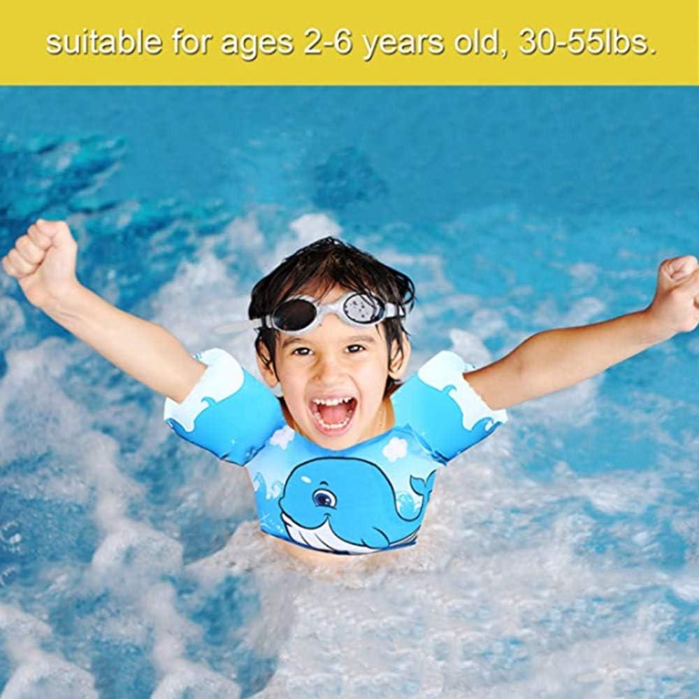 HUIERXIEYE Swim Vest Life Jacket Floaties for Toddlers Kids 30-55lbs Girl/&boy