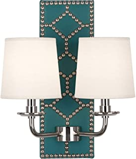 product image for Robert Abbey S1033 Williamsburg Lightfoot - Two Light Wall Sconce, Choose Finish: Polished Nickel