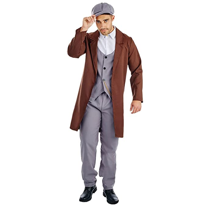 Men's Vintage Style Suits, Classic Suits Mens 1920s Peaked Cap Gangster Fancy Dress Costume £26.10 AT vintagedancer.com