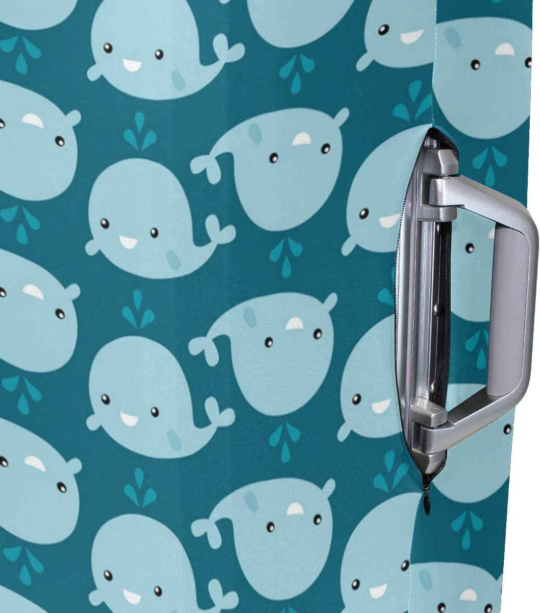 Blue Viper Cute Whales Luggage Protective Cover Suitcase Protector Fits 22-24 Inch Luggage