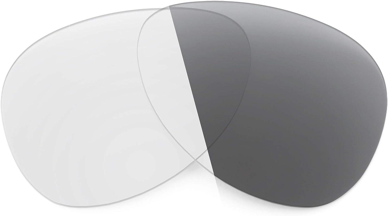Revant Verres de Rechange pour Oakley Kickback - Compatibles avec les Lunettes de Soleil Oakley Kickback Photochromique Gris Adaptatif Nonpolarisés Elite