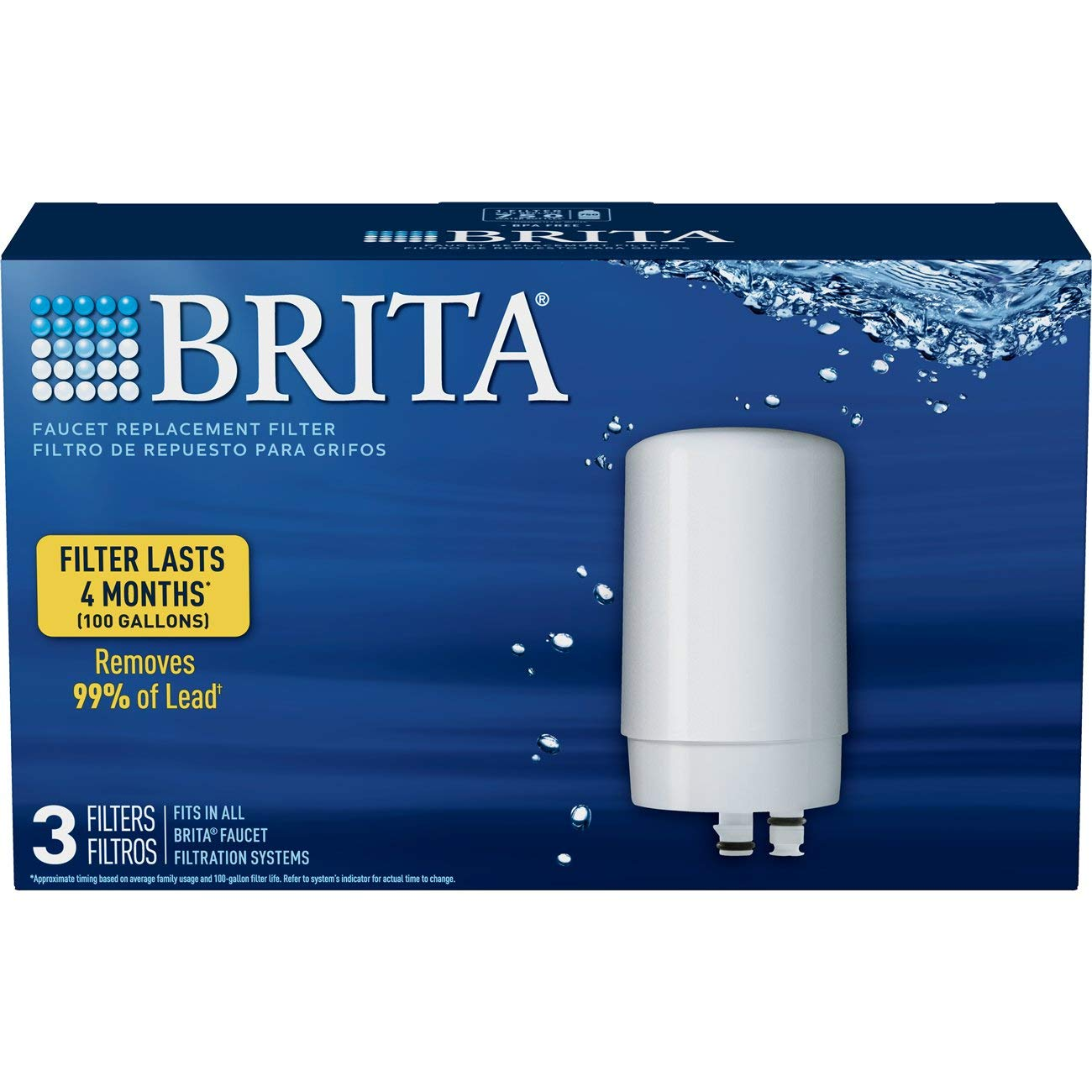 Brita 36313 Faucet Replacement Filters, 3ct, WHITE by Brita (Image #2)