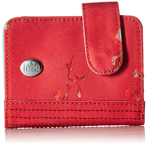 Haiku Women's Small Travel RFID Blocking Kismet Wallet, Cinnabar Wisteria Print