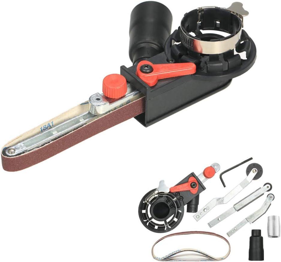 """VISLONE Belt Sander Sanding Belt Adapter Multifunction Mini DIY Electric Angle Grinder Bandfile Belt Sander for 115mm 4.5"""" and 125mm 5"""" Spindle Sander with M14 Thread Spindle"""