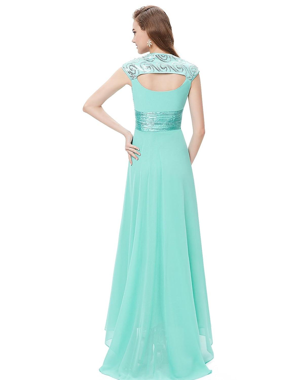 Ever-Pretty Chiffon Sexy V-neck Ruched Empire Line Evening Dress ...