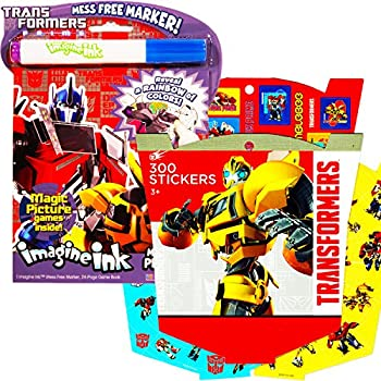 transformers imagine ink coloring book super set with over 300 transformers stickers includes mess - Imagine Ink Coloring Book