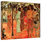Paul Gauguin 'Nave Nave Mahana (Delightful Days)' gallery-wrapped canvas is a high-quality canvas print depicting a gathering of women as they are working at their tasks for the day, socializing as they work on a bright day. A beautiful addition to a...