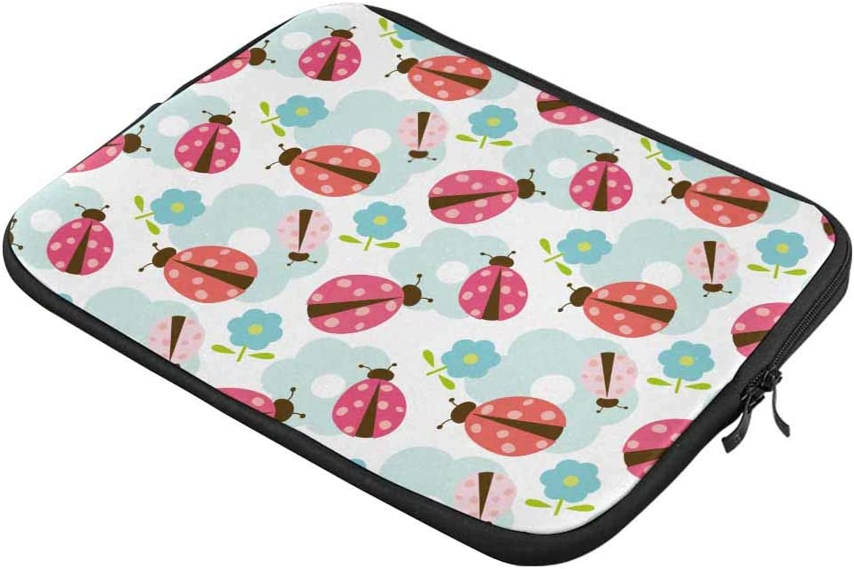 Ladybug Pattern Laptop Sleeve Case 13 13.3 Inch Briefcase Cover Protective Notebook Laptop Bag