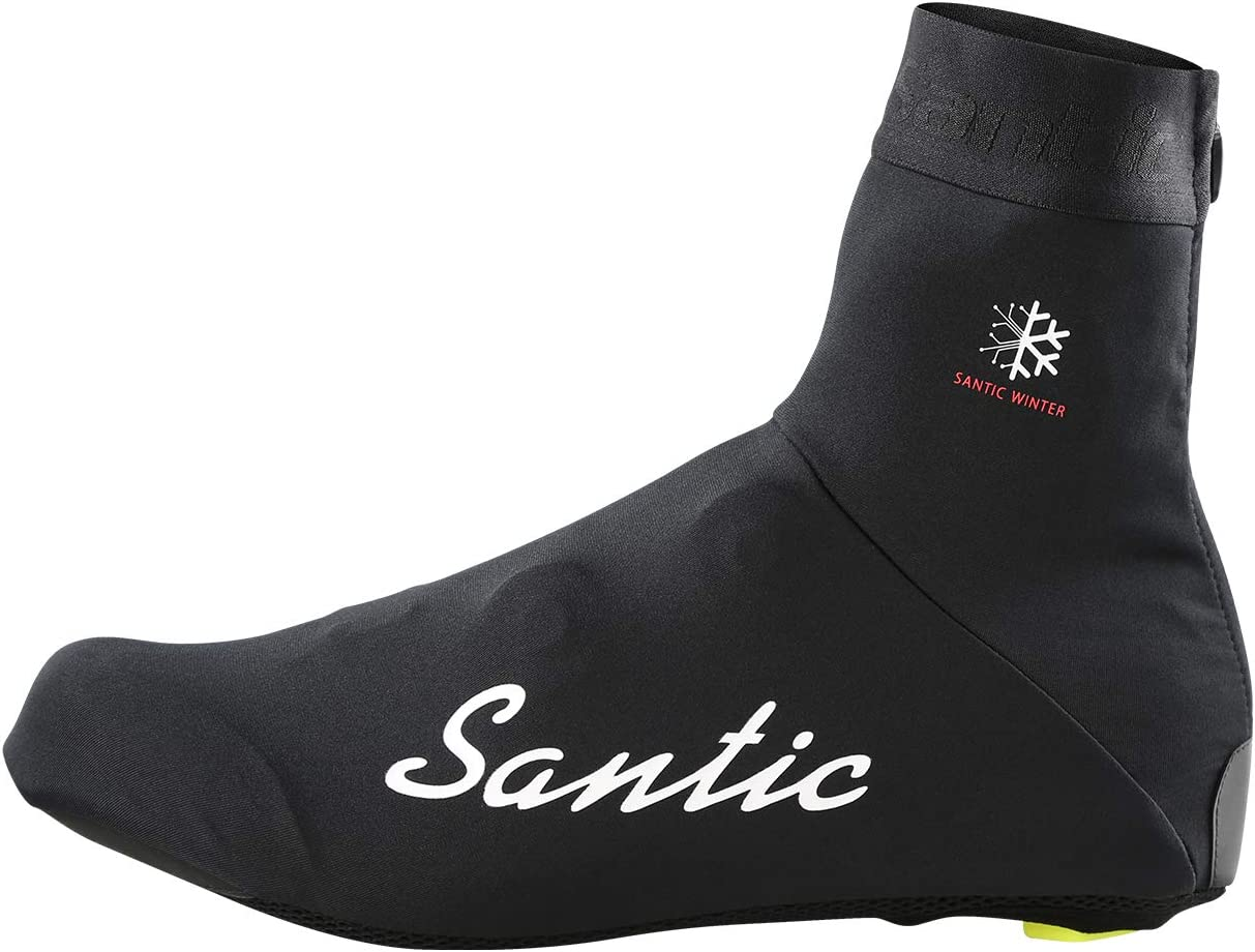 Santic Cycling Shoe Covers for Men Cycling Overshoes Windproof Thermal Road Bike Cycle Shoes Cover Warm Protector Fleece Inside or not as You Wish