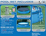 Intex 15ft X 48in Easy Set Pool Set with Filter Pump, Ladder, Ground Cloth & Pool Cover