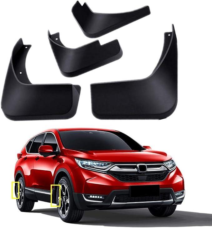 biosp Auto Mud Flaps Splash Guards For Honda CR-V CRV 5th gen 2017 2018 2019 Front and Rear Fender Cover PP-Custom Fit Black Molded 4Pcs Set