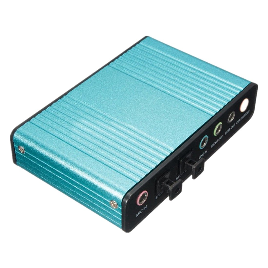 Optical Sound Card - SODIAL(R)External Sound Card USB 6 Channel 5.1 Audio S / PDIF Optical Sound Card For PC Light blue