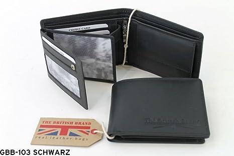 631c081dd Dernier GBB DE 103 Hermosa Cartera de Piel en Negro de CH Trading ...