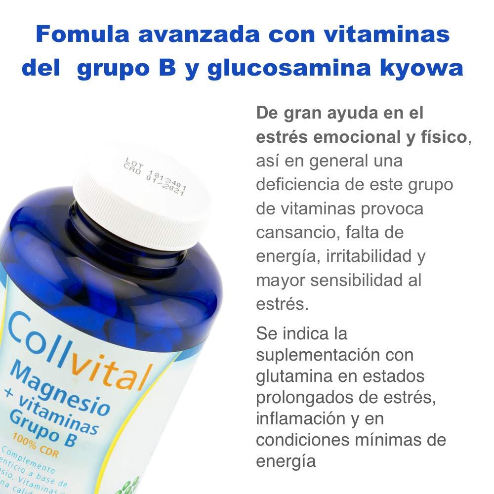 Magnesio + Vitaminas de grupo B + Glucosamina Kyowa 180 capsulas de 430MG (tratamiento para 3 meses). Reduce la fatiga y mejora el sistema nervioso. ...