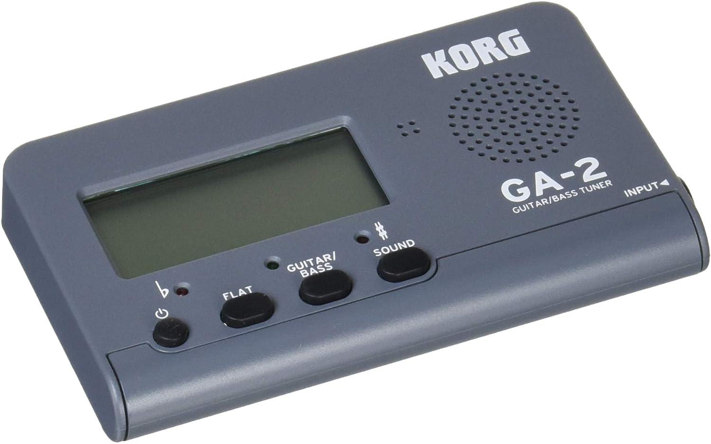 KORG GA-2 MG - Afinador para guitarra y bajo, color gris