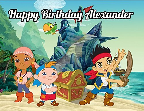 Jake and the Neverland Pirates Edible Image Photo Cake Topper Sheet Personalized Custom Customized Birthday Party - 1/4 Sheet - -