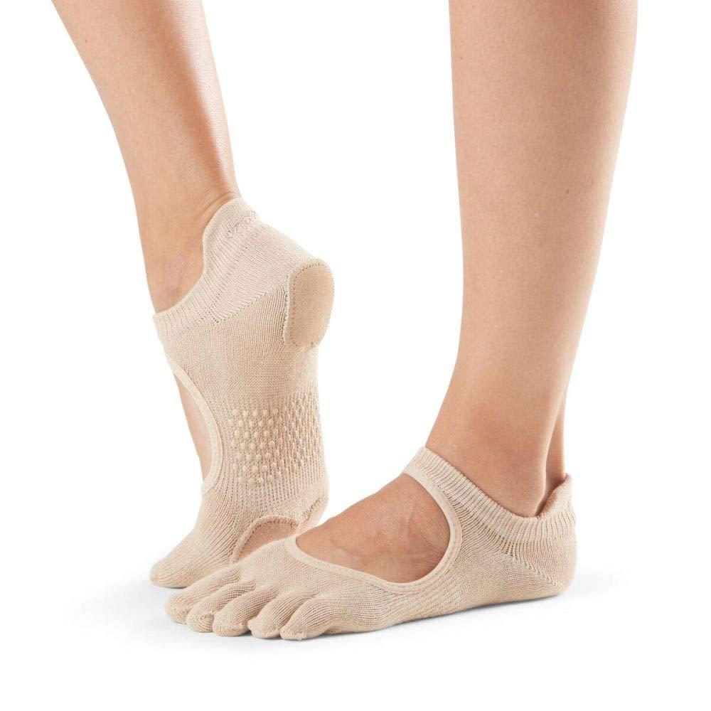 toesox Yoga Women Dance Socks Non Slip Grip Barre Prima Bellarina Full Toe