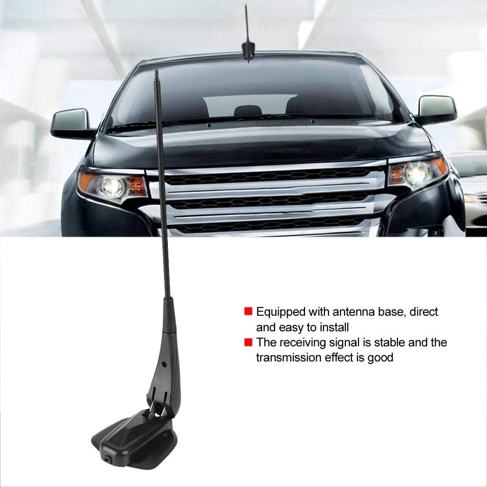 Hlyjoon Universal Car Stereo Radio Aerial Base Mount Rod Antenna Black Aerial Antenna Base Compatible with Antenna Replacement Accessories Car Hide Antenna Roof Aerial