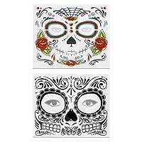 Halloween Temporäre Zombie Narben Tattoos Aufkleber für Frauen Männer Gefälschte Gesicht Tattoo Body Art Erwachsene Wasserdichte Papier - 2 stücke