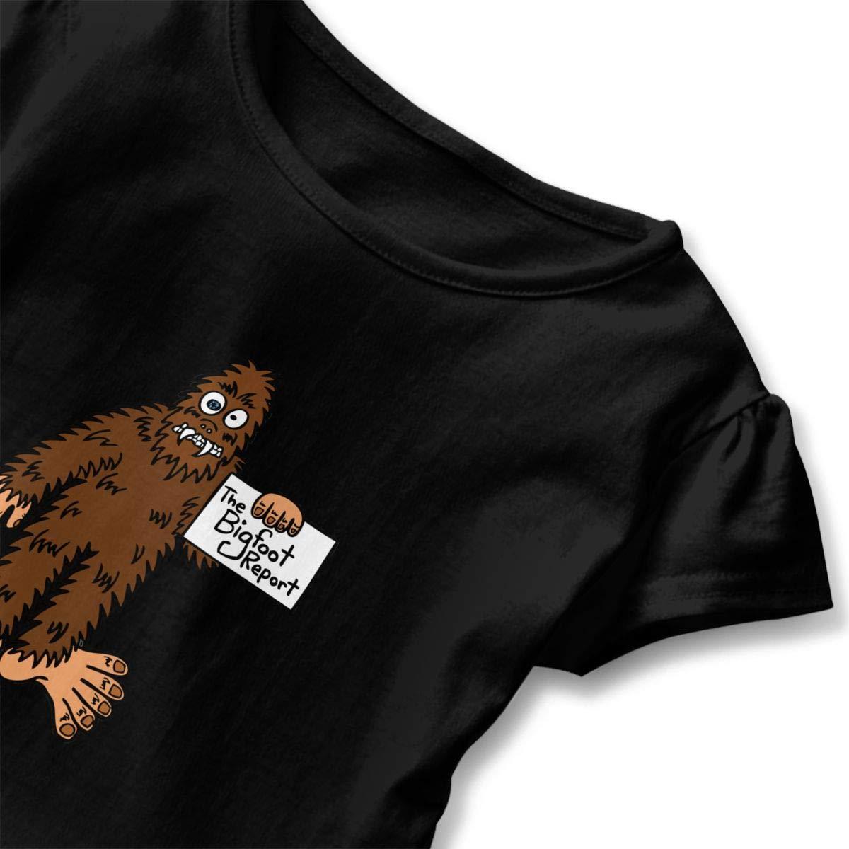 CZnuen The Bigfoot Report Baby Girls Round Neck Short Sleeve Ruffle T-Shirt Top