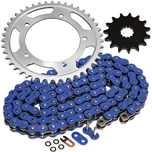 (Caltric Blue O-Ring Drive Chain & Sprockets Kit Fits SUZUKI 600 GSX-R600 GSXR600 2006-2010)