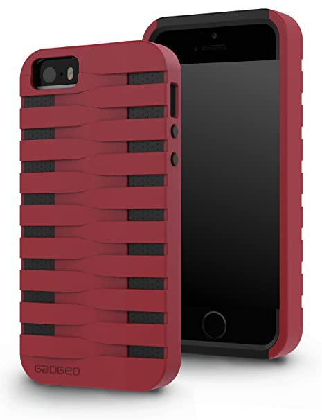 043f8a637d6e38 gadgeo iPhone SE   5   5S Tough Heavy Duty Shock Proof Defender Case Cover  - Two Piece Protective Hard Case - Best iPhone 5 5S Strong Armour Hybrid  Case ...