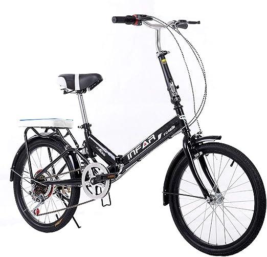 Paseo Bicicleta Plegable para Mujer Bicicleta De 6 Velocidades 20 ...