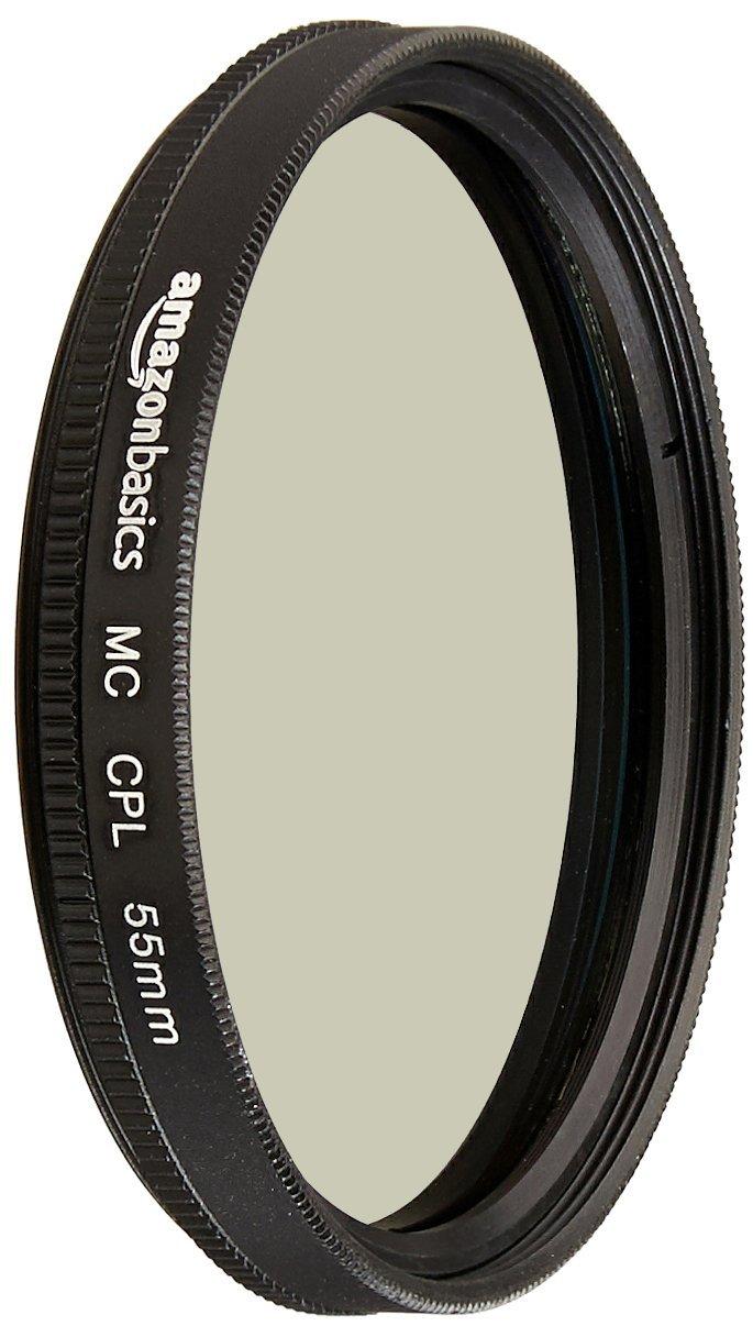 AmazonBasics Circular Polarizer Lens - 55 mm