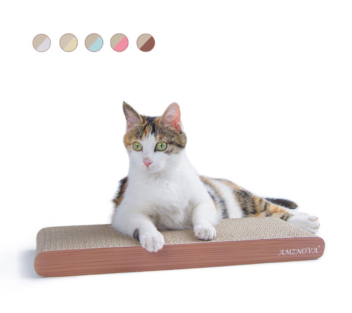 ANZNOVA Griffoirs pour chats, Chat Griffoirs, Carton Ondulé pour Chat, Chat Planche à Gratter, Jouets à l'herbe à chat AMZNOVA