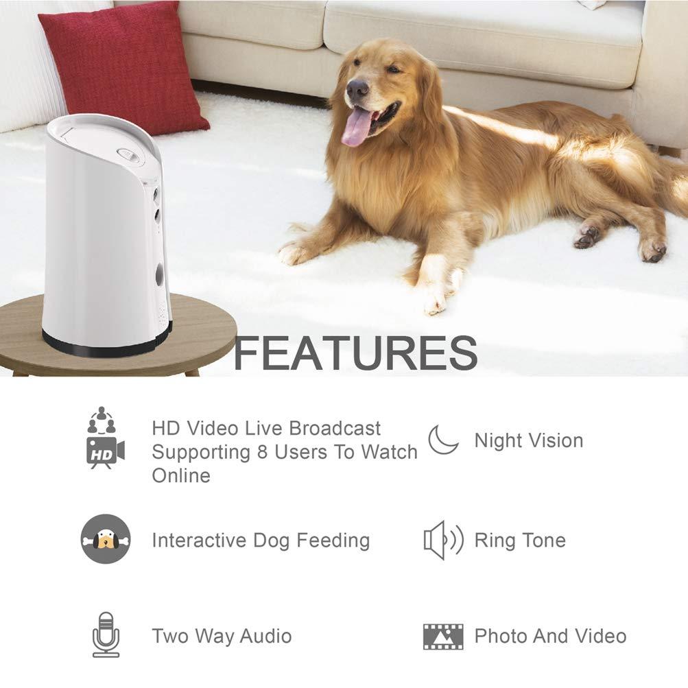 Venidice skymee 2-Way Audio Dog Camera, Night Vision Pet Camrea, WiFi Remote Control for Treat Dispenser Cleaning Cloth by Venidice (Image #3)