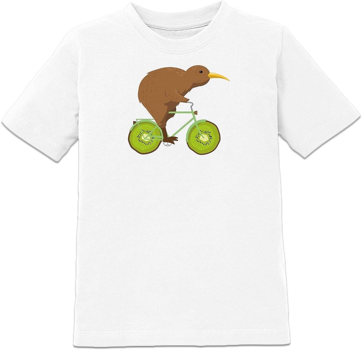 Shirtcity Camiseta de niño Kiwi Riding Kiwi-Bike by: Amazon.es: Ropa y accesorios