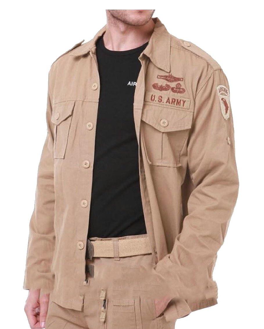 Keaac Mens Military Dress Shirt Short Sleeve Button Down Shirts