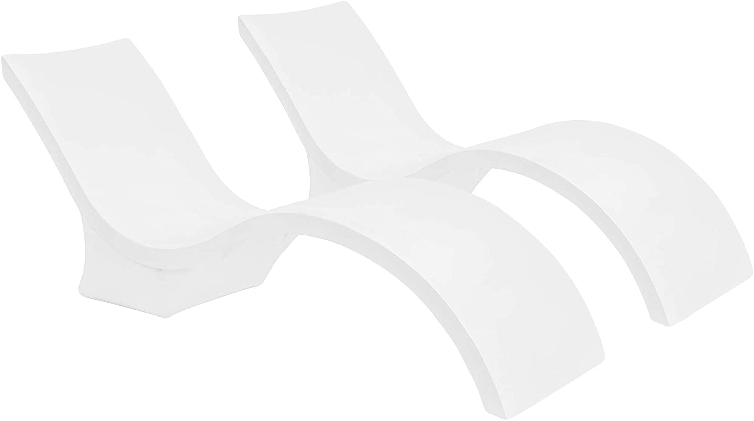 Ledge Lounger in-Pool Chaise Deep Lounge for 10-15 in. of Water Set of 2, White