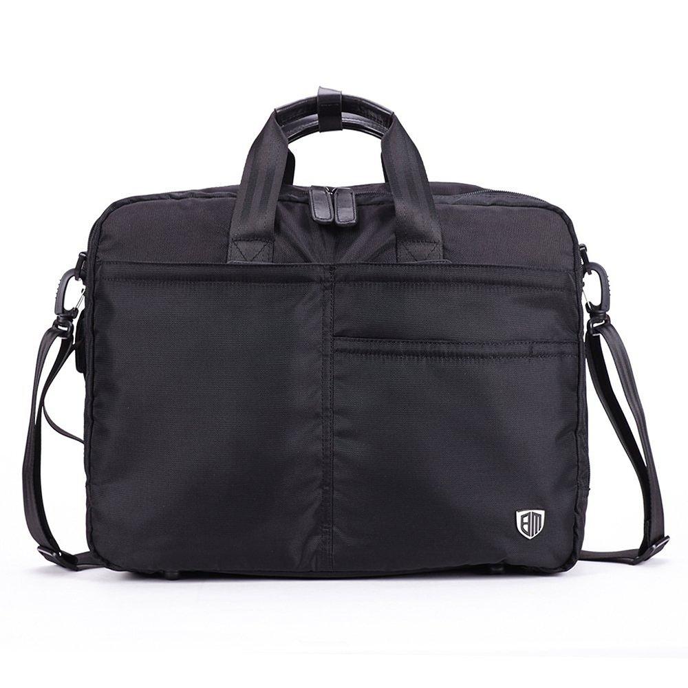 Ecosusi Laptop Case Messenger Shoulder Bag for 15.6 Laptop Notebook MacBook Ipad Chromebook Computers Black