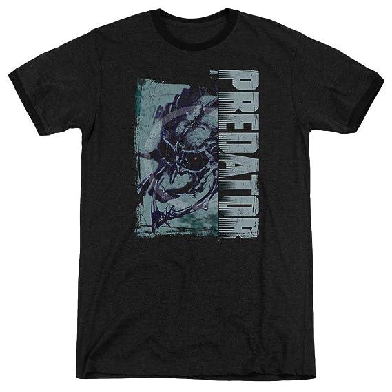 Men Predator Athleisure Mens Yautja Skull Ringer T-Shirt