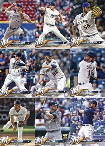 - 2018 Topps Series 2 Baseball Milwaukee Brewers Team Set of 17 Cards: Josh Hader(#357), Wade Miley(#359), Domingo Santana(#377), Aaron Wilkerson(#378), Lorenzo Cain(#421), Stephen Vogt(#438), Jesus Aguilar(#442), Hernan Perez(#455), Jimmy Nelson(#456), Yovani Gallardo(#458), Matt Garza(#472), Taylor Williams(#505), Jhoulys Chacin(#535), Eric Thames(#615), Manny Pina(#637), Travis Shaw(#638), Eric Sogard(#666)