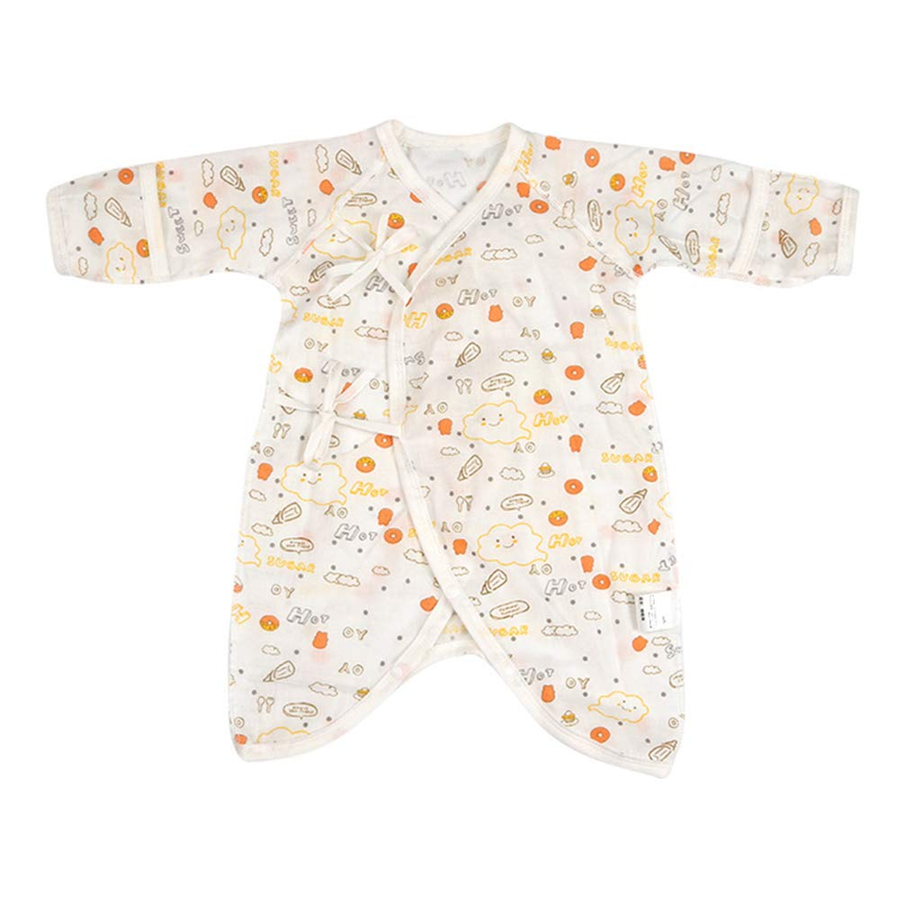 Color : Happy Bottle, Size : F HUHUXXYY Infant Baby Boys Girls Pajamas Long Sleeve Printing Strap Snap Cotton Romper Jumpsuit