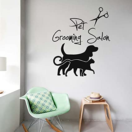 3c02c4391656 BATTOO Pet Grooming Salon Wall Decal Dog Grooming Decals Vinyl Stickers  Puppy Pet Shop Animal Nursery