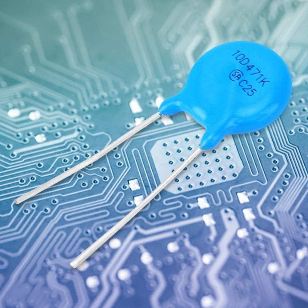 Rockyin 50Pcs Varistors Inline 10D471K 10K471 10mm Diameter 470V