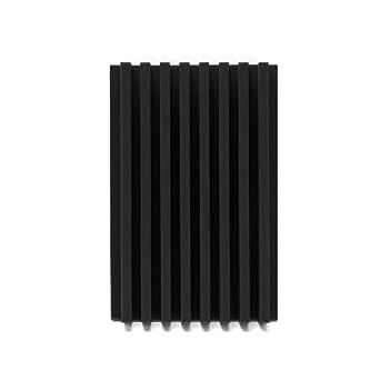 EsportsMJJ 120X30X 7.5 Cm Acústico Cuña Estudio Insonorizada Panel Espuma Tablero Esponja - Negro