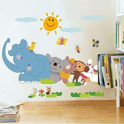 e1b86706e14 Buy Jaamso Royals  Happy Mickey and Minnie Cartoon  Wall Sticker ...