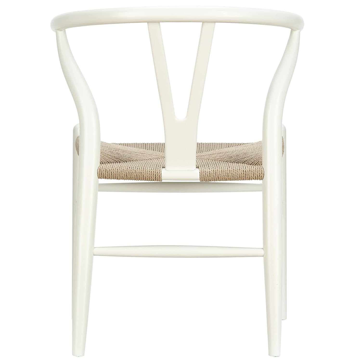 Amazon Modway Amish Dining Chair in White Kitchen & Dining