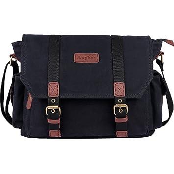 Amazon.com: ibagbar Men's Canvas Messenger Bag Laptop Bag Shoulder ...