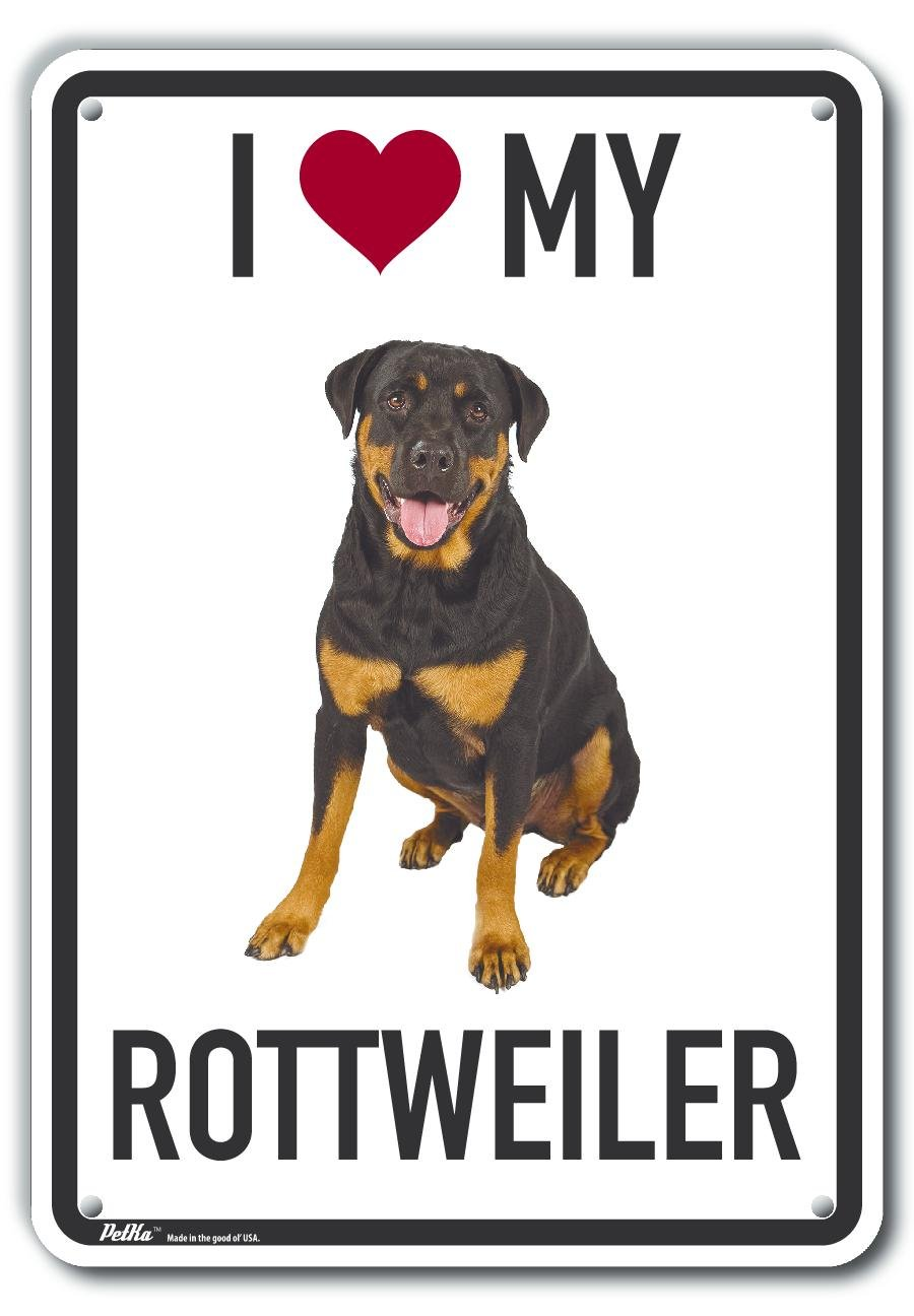PetKa Signs and Graphics PKAS-0197-NA/_7x10I Love My Rottweiler Aluminum Sign 0.04 Width 7 x 10