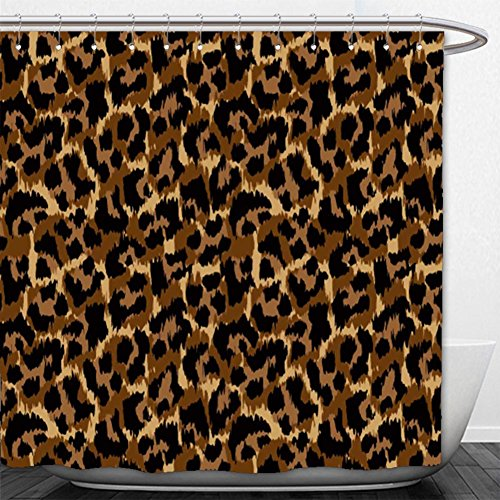 Beshowere Shower Curtain leopard pattern vector illustration seamless print wallpaper background texture