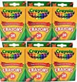 Crayola 24 Count Box of Crayons Non-Toxic Color Coloring School Supplies (3 Packs)