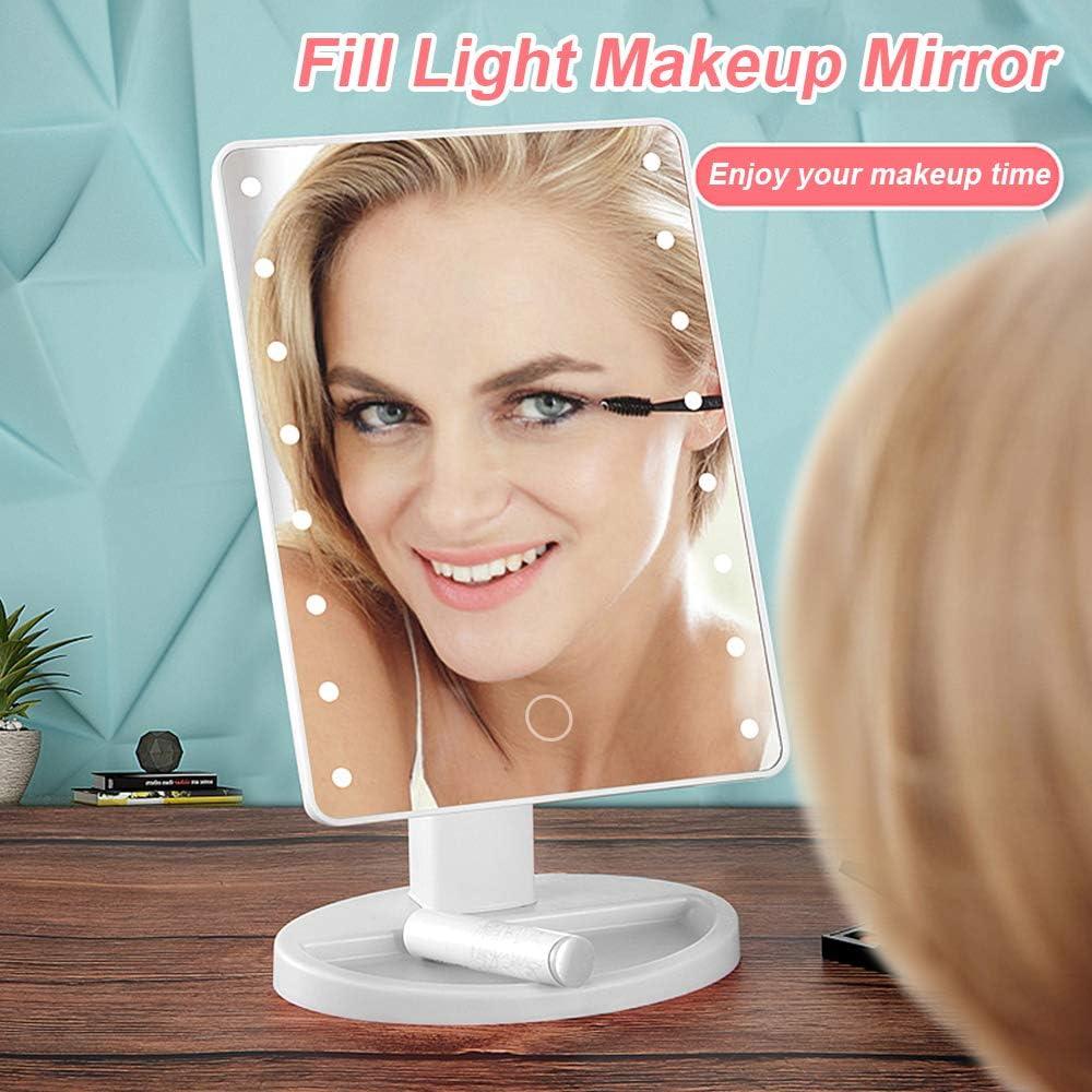 YOODI Makeup Mirror, Schminkspiegel mit LED Beleuchtung