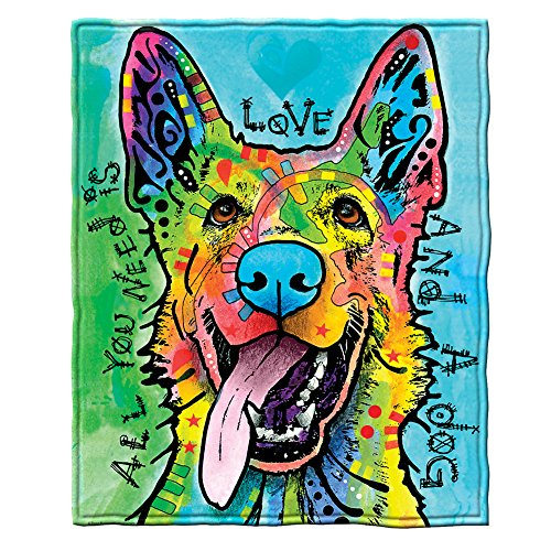 Dawhud Direct Dean Russo Love and a Dog German Shepherd Fleece Throw -