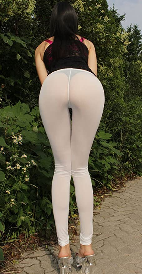Girls in see threw yoga pants